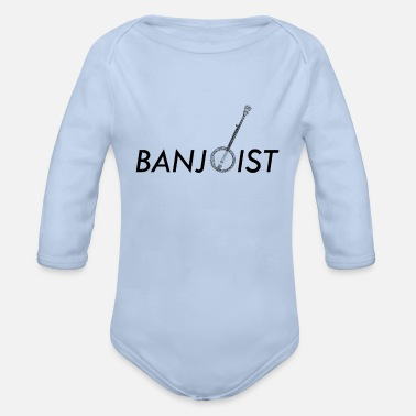 Countrymusic Banjo Bluegrass Music Traditional Musician Gift - Organic Long-Sleeved Baby Bodysuit