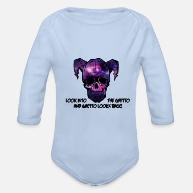 Ghetto Look into the Ghetto and Ghetto looks back! - Organic Longsleeve Baby Bodysuit
