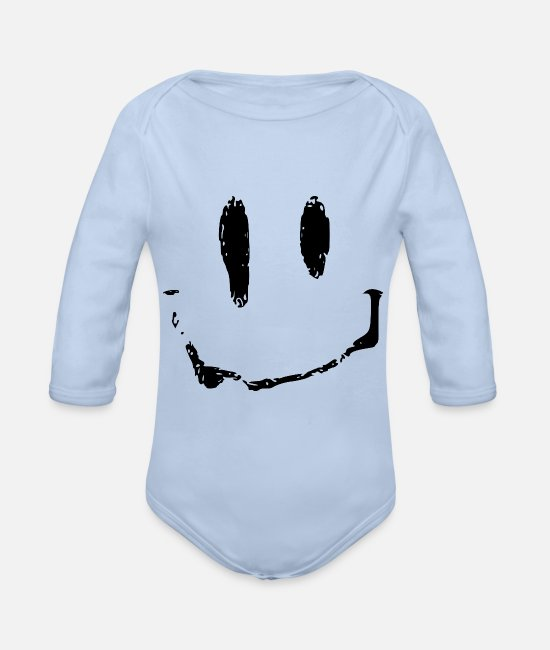 Acid Folk Baby Bodysuits - acid - Organic Long-Sleeved Baby Bodysuit sky