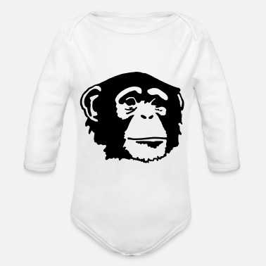 Ape Face ape - Organic Long-Sleeved Baby Bodysuit