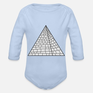 Pyramid Pyramid - Organic Long-Sleeved Baby Bodysuit