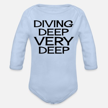 Deep Diving Deep Very Deep - Organic Long-Sleeved Baby Bodysuit