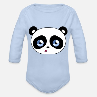 Beady Eyes Kawaii Panda Beady Eyes - Organic Long-Sleeved Baby Bodysuit