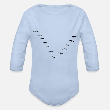 Migration Migrating - Organic Long-Sleeved Baby Bodysuit