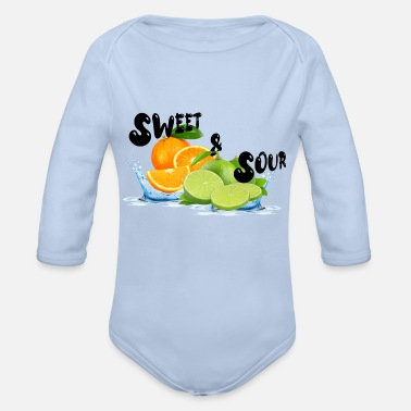 Sweet & Sour - Organic Long-Sleeved Baby Bodysuit