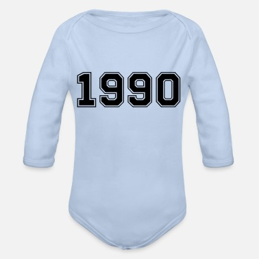 1990 1990 - Organic Long-Sleeved Baby Bodysuit