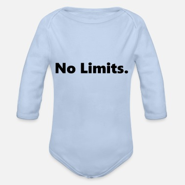 No Limit NO LIMITS. No limits - Organic Long-Sleeved Baby Bodysuit