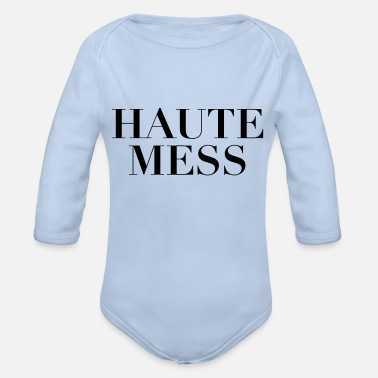 Mess Haute Mess - Organic Long-Sleeved Baby Bodysuit