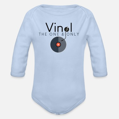 One & Only vinyl record cool gift idea - Organic Long-Sleeved Baby Bodysuit