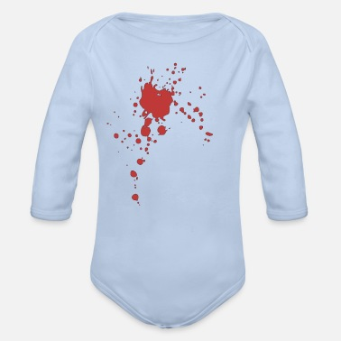Blood Splatter Blood splatter blotch stain blood stain - Organic Long-Sleeved Baby Bodysuit