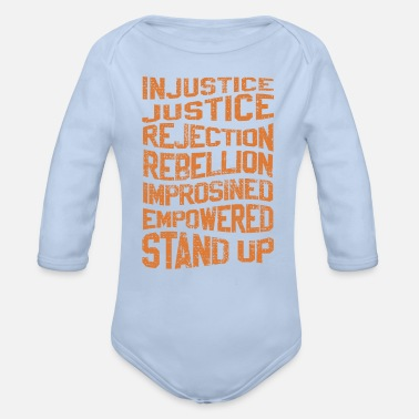 Injustice INJUSTICE REBELLION EMPOWERED - Organic Long-Sleeved Baby Bodysuit