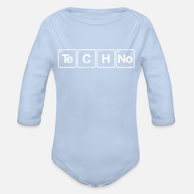 Periodic Table Techno periodic table elements - Organic Long-Sleeved Baby Bodysuit