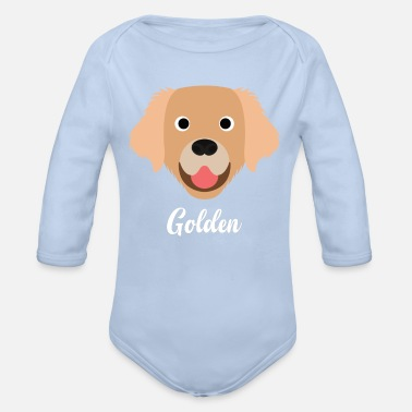 Gold Golden - Golden Retriever - Økologisk langermet baby-body