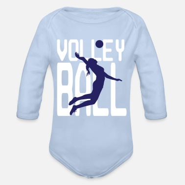 Superstar Volleyball - Volleyballspielerin - Baby Bio Langarmbody