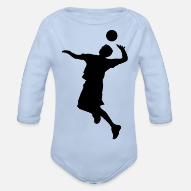 Volley Volley Sillhouette - Organic Long-Sleeved Baby Bodysuit