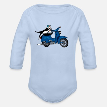 Scooter Two swallows - Organic Longsleeve Baby Bodysuit