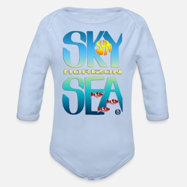 Sea And Sky - Baby bio-rompertje met lange mouwen