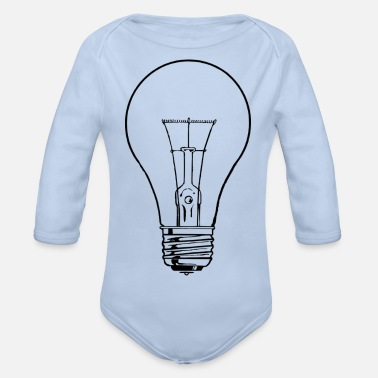 Light Bulb light bulb - Organic Long-Sleeved Baby Bodysuit