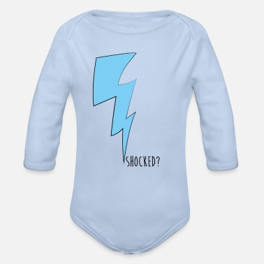 Shock shocked - Organic Long-Sleeved Baby Bodysuit