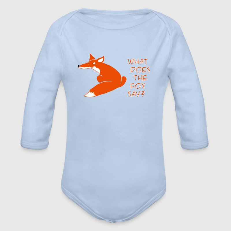fuchs what does the fox say wildtiere - Baby Bio-Langarm-Body