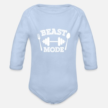 Mode Beast mode - Organic Long-Sleeved Baby Bodysuit