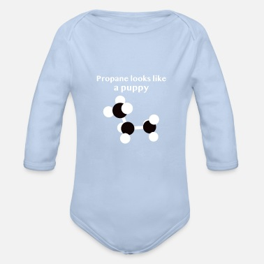 Propane Propane looks like a puppy chemistry design - Organic Long-Sleeved Baby Bodysuit