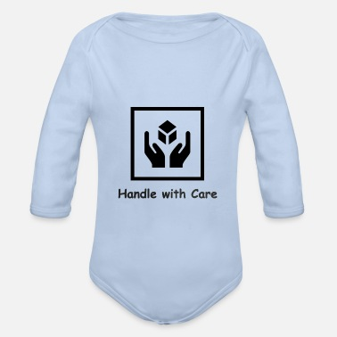 Handle with Care - Organic Long-Sleeved Baby Bodysuit