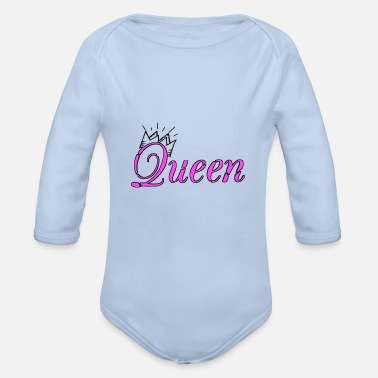 Queen Queen queen - Organic Long-Sleeved Baby Bodysuit