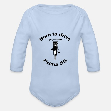 50 Cm³ Born to drive HERCULES Prima 5S - Organic Long-Sleeved Baby Bodysuit
