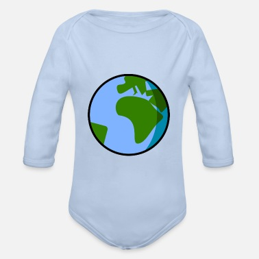 earth - Organic Long-Sleeved Baby Bodysuit
