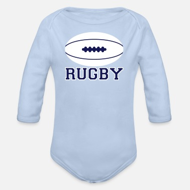 Rugby Rugby sport - Body bébé bio manches longues