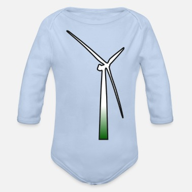 Energie windmill windmuehle wind turbine windrad11 - Baby Bio Langarmbody