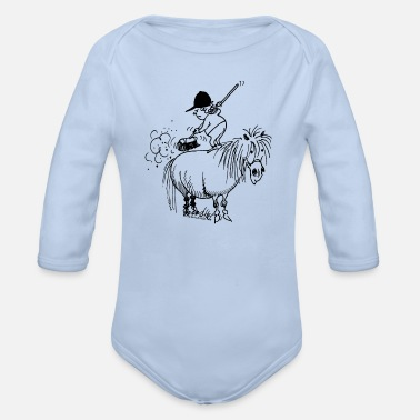 Cheval Thelwell Thelwell - Nettoyage printanier - Body Bébé bio manches longues