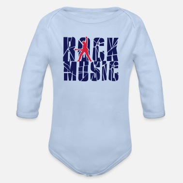 Rock Music rock music - Organic Long-Sleeved Baby Bodysuit