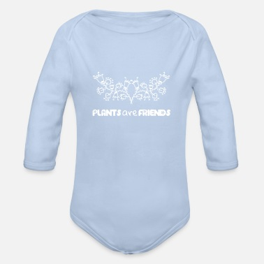 Plant plants - Organic Long-Sleeved Baby Bodysuit