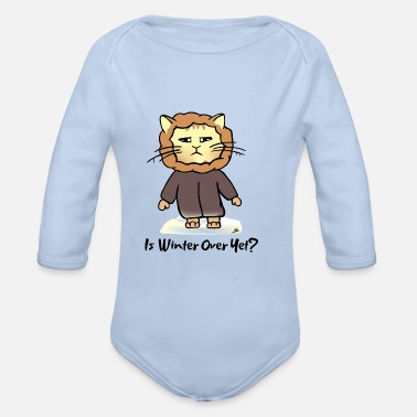 Winter Cat - Ist Winter Over Yet?- Snow Cat - Organic Long-Sleeved Baby Bodysuit