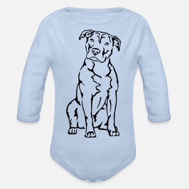 American Staffordshire Terrier American Staffordshire Terrier - Baby Bio Langarmbody
