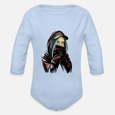 Messed Up MESSED-UP - Organic Long-Sleeved Baby Bodysuit