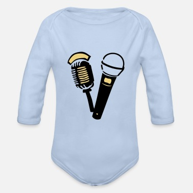 Old old old microphone - Organic Long-Sleeved Baby Bodysuit