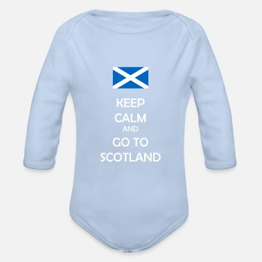 Keep calm and go to Scotland - Scotland fan shirt - Organic Long-Sleeved Baby Bodysuit