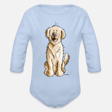 Gold Golden Golden Retriever - Økologisk langermet baby-body