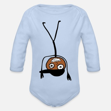 Kid In A Cap Handstand - Organic Long-Sleeved Baby Bodysuit