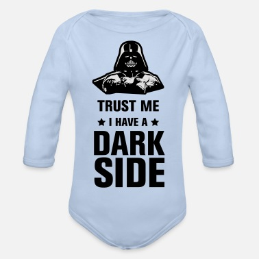 Dark Side Dark Side - Organic Long-Sleeved Baby Bodysuit