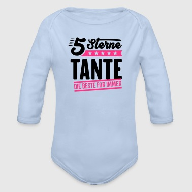 5Sterne Tante - Baby Bio-Langarm-Body