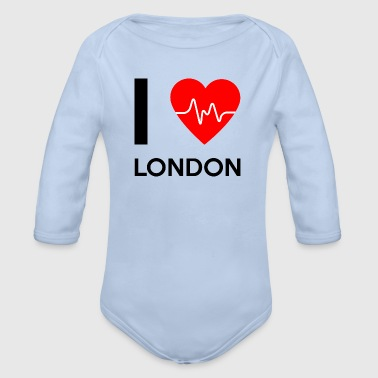 I Love London - I love London - Organic Longsleeve Baby Bodysuit