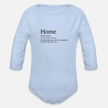 Home Home at home - Organic Long-Sleeved Baby Bodysuit