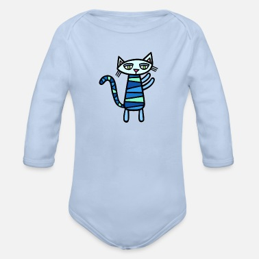 Cat Katz - Organic Long-Sleeved Baby Bodysuit