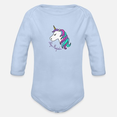 Young stay magical - Organic Long-Sleeved Baby Bodysuit
