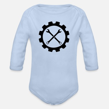 Garage Garage - Organic Long-Sleeved Baby Bodysuit