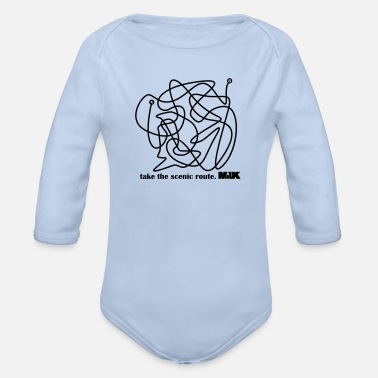 Scenic Scenic Route 001 - Organic Long-Sleeved Baby Bodysuit